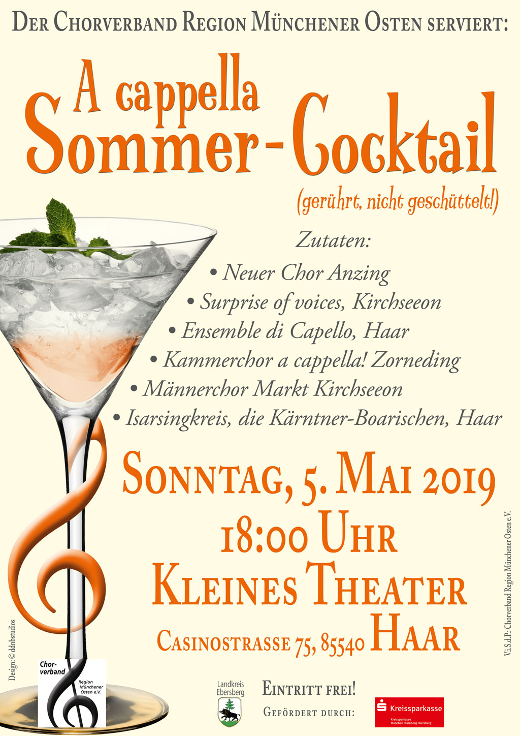 Plakat A Capella Sommercocktail 2019
